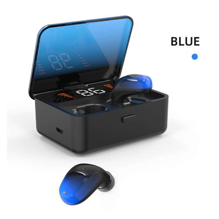 ES01 TWS Draadloze Smart Touch Control Oortjes Bluetooth 5.0 Air Wireless Pods Earphones Earbuds Powerbank Blauw