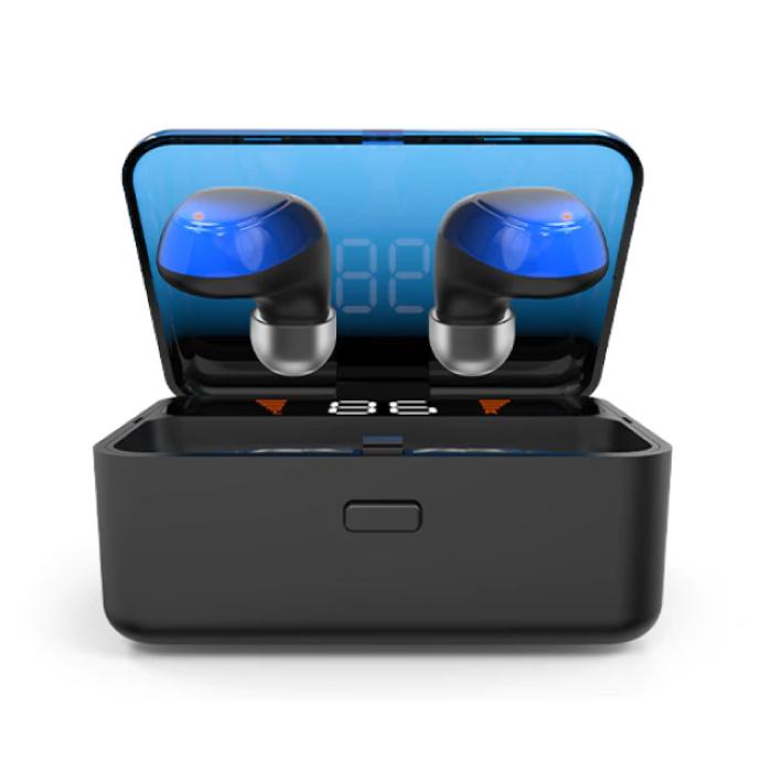 ES01 TWS Smart Wireless Touch Control écouteurs Bluetooth 5.0 sans fil Cosses Air écouteurs Earbuds Power Bank Bleu
