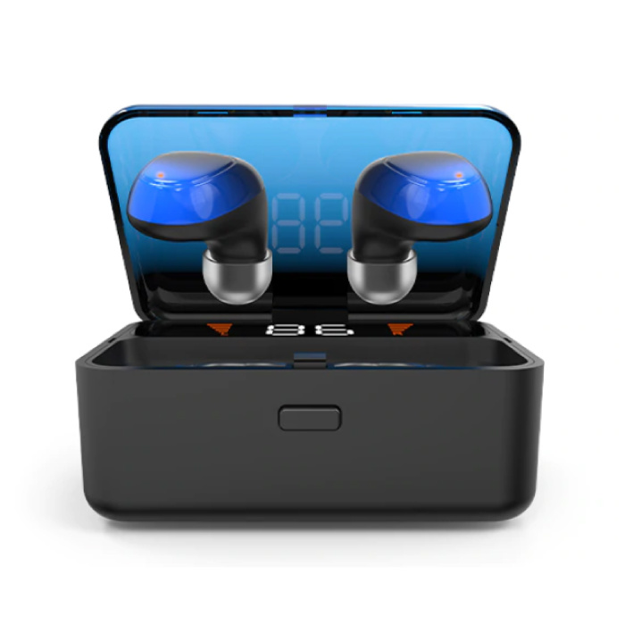 ES01 TWS Wireless Smart Touch Control Earphones Bluetooth 5.0 Air Wireless Pods Earphones Earbuds Powerbank Blue