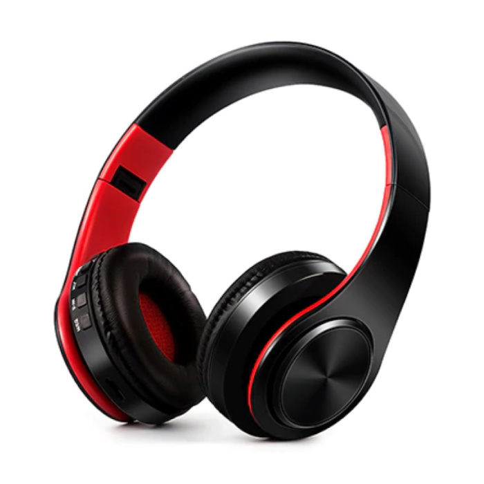 Wireless Headphones Bluetooth Wireless Headphones Stereo Gaming Red-Black