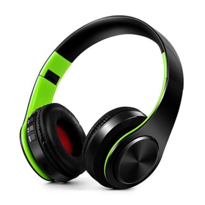Draadloze Koptelefoon Bluetooth Wireless Headphones Stereo Gaming Groen-Zwart