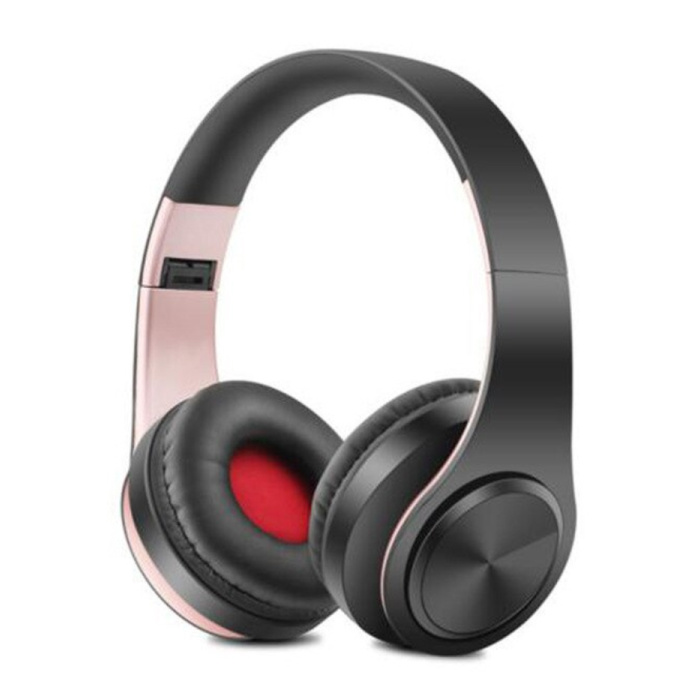 Draadloze Koptelefoon Bluetooth Wireless Headphones Stereo Gaming Roze-Zwart