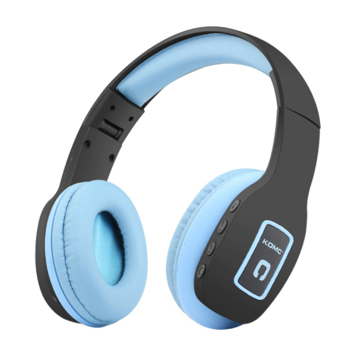 Draadloze Koptelefoon Bluetooth Wireless Headphones Stereo Gaming Blauw