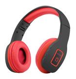 KOMC Sans fil Bluetooth casque sans fil Casque stéréo Gaming Rouge