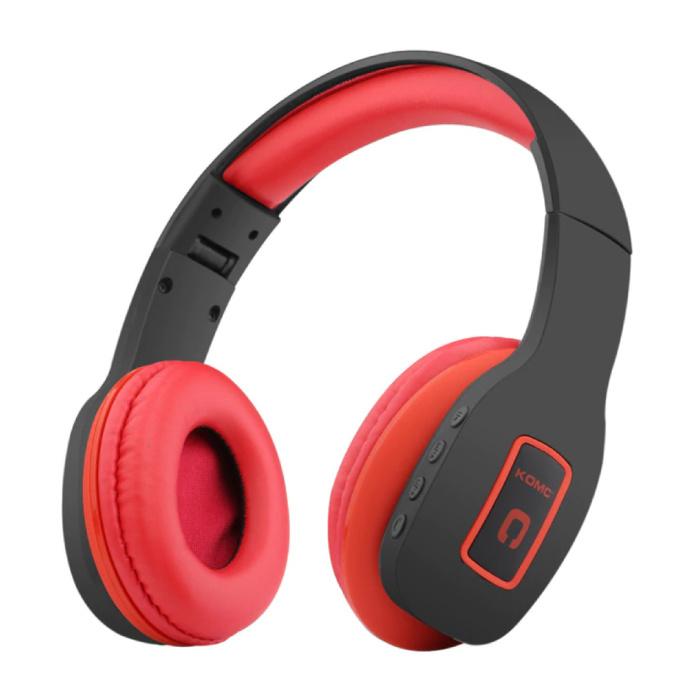 Draadloze Koptelefoon Bluetooth Wireless Headphones Stereo Gaming Rood