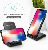 DCAE Fast Charge Qi Desktop Draadloze Oplader Universeel 9V - 1.67A Wireless Charging Pad Zwart