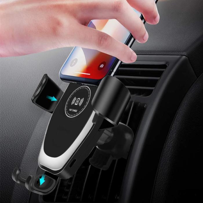 Chargeur de voiture sans fil Qi Chargeur universel 9V - Pad de charge de voiture sans fil 1.67A Noir