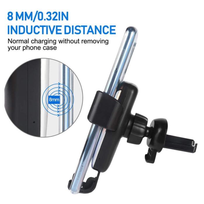 DCAE Qi Chargeur sans fil Chargeur universel 9V - 1.67A voiture sans fil de recharge Pad Noir