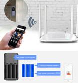 HISMAHO Doorbell avec caméra et une connexion Wi-Fi - Sans fil Smart Home Sécurité Alarme IR vision nocturne