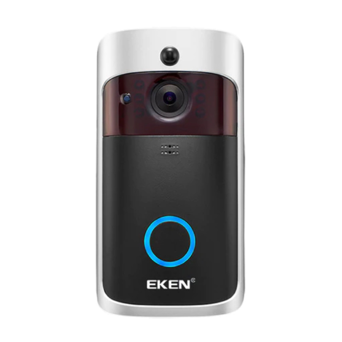 EKEN Deurbel met Camera en WiFi - Intercom Draadloze Smart Home Security Alarm IR Night Vision