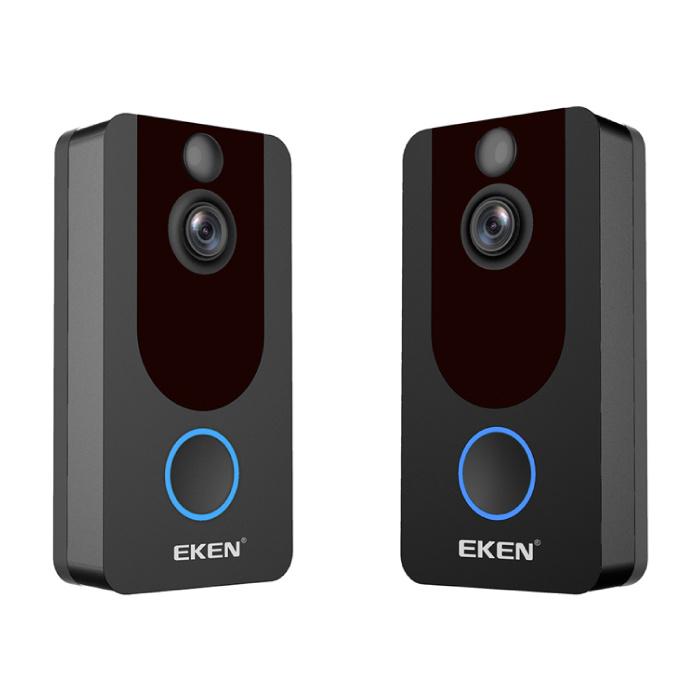 EKEN Y7 Deurbel met Camera en WiFi - Intercom Draadloze Smart Home Security Alarm IR Night Vision