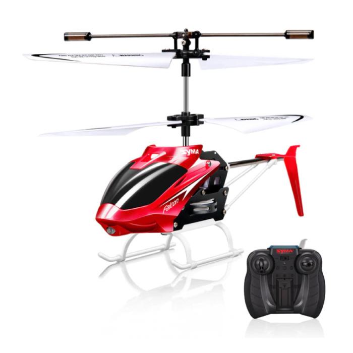 W25 Falcon Mini RC Drone Helikopter Speelgoed Gyro Lampjes Rood