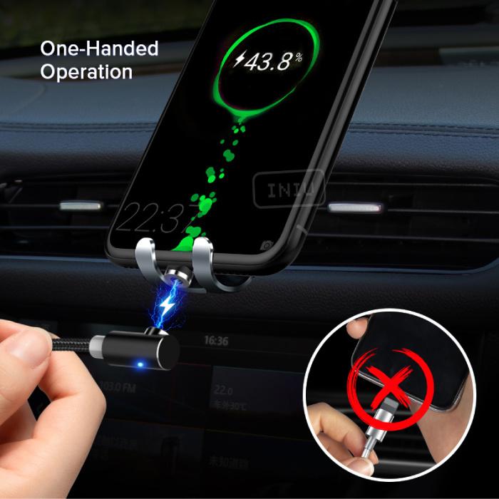INIU USB 2.0 - iPhone Lightning Magnetische Oplaadkabel 1 Meter Gevlochten Nylon Oplader Data Kabel Data Zilver