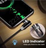 INIU USB 2.0 - iPhone Lightning Magnetische Oplaadkabel 2 Meter Gevlochten Nylon Oplader Data Kabel Data Rood