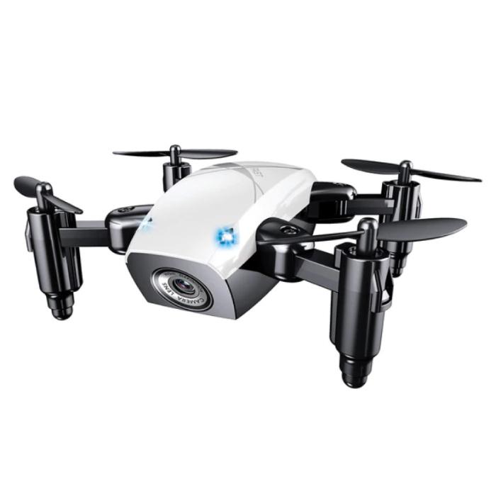 S9W Mini RC Pocket Drone Quadcopter Toy avec Gyro Stabilisation Blanc