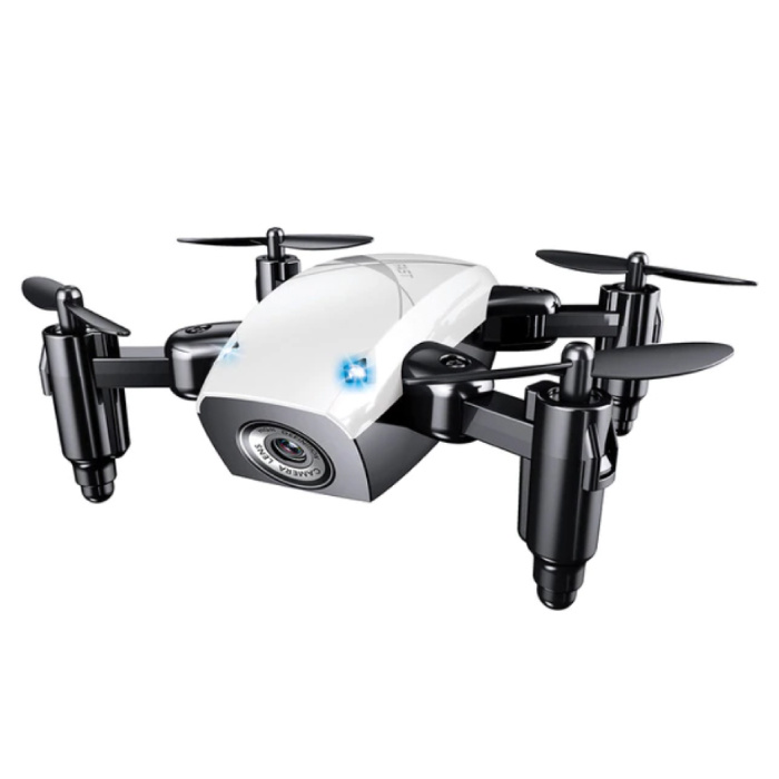 S9W Mini RC Pocket Drone Quadcopter Toy with Gyro Stabilization White
