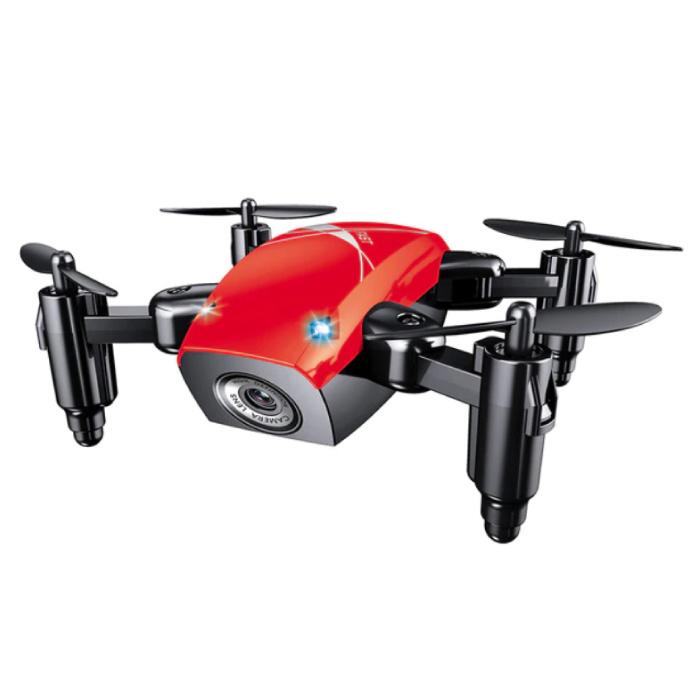S9W Mini RC Pocket Drone Quadcopter Toy avec Gyro Stabilisation Rouge