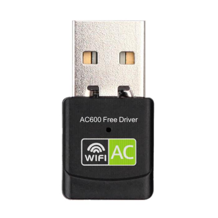 Mini USB WiFi Dongle réseau sans fil 600 Mo / s 5GHz Adaptateur d'antenne Noir