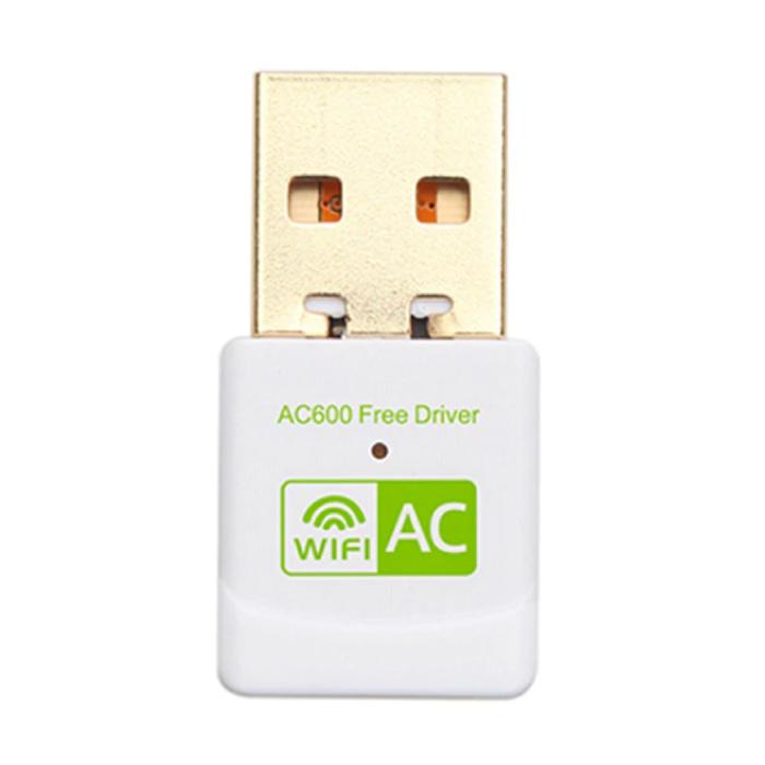 Mini USB WiFi Dongle réseau sans fil 600 Mo / s 5GHz Adaptateur d'antenne blanc