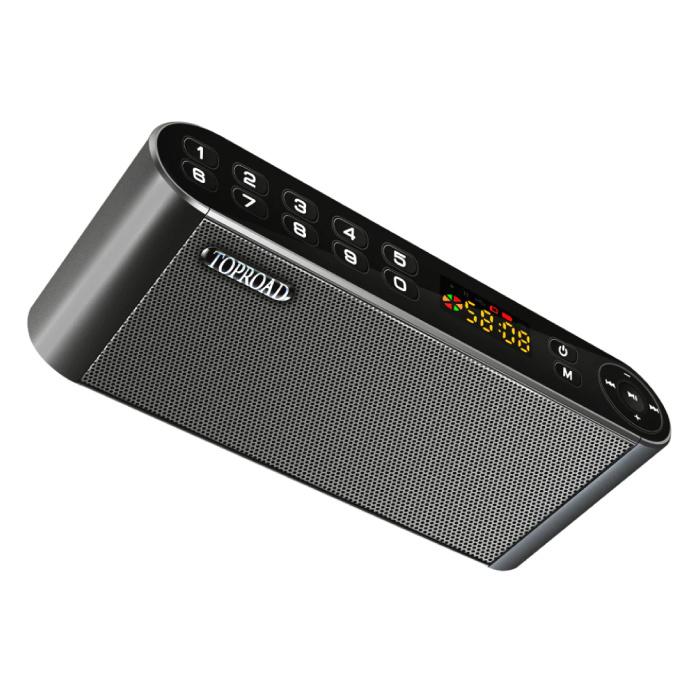 Haut-parleur sans fil HiFi Haut-parleur externe Haut-parleur sans fil Bluetooth 3.0 Boîte de barre de son Noir