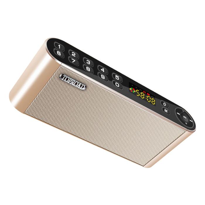 Haut-parleur sans fil HiFi Haut-parleur externe Haut-parleur sans fil Bluetooth 3.0 Soundbar Box Gold