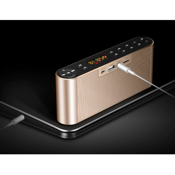 TOPROAD HiFi Draadloze Luidspreker Externe Speaker Wireless Bluetooth 3.0 Speaker Soundbar Box Goud