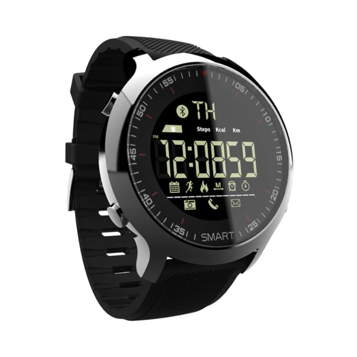 Waterdichte Sport Smartwatch Fitness Activity Tracker Smartphone Horloge iOS Android iPhone Samsung Huawei Zwart