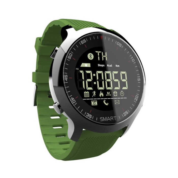 Wasserdichte Sport Smartwatch Fitness Activity Tracker Smartphone Uhr iOS Android iPhone Samsung Huawei Green