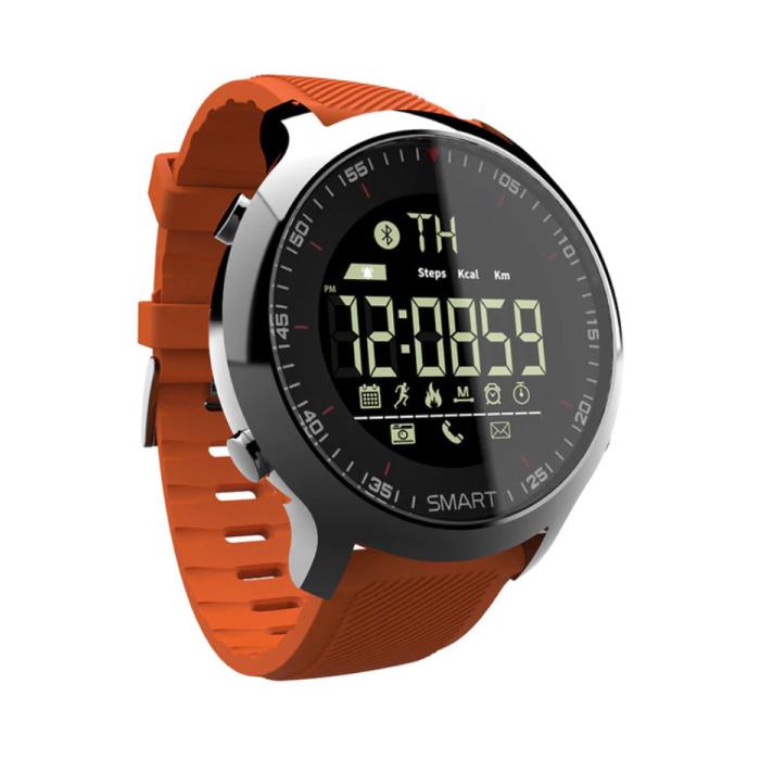 Wasserdichte Sport Smartwatch Fitness Activity Tracker Smartphone Uhr iOS Android iPhone Samsung Huawei Orange