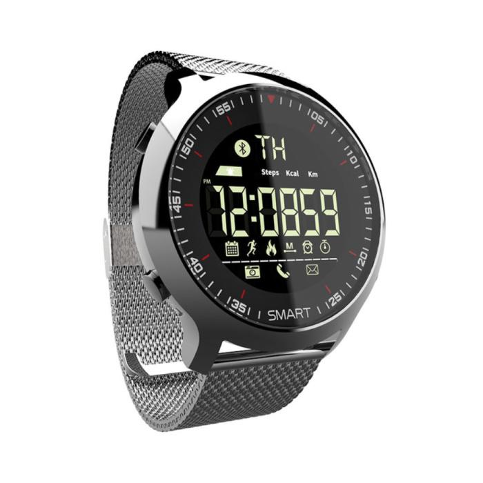 Wasserdichte Sport Smartwatch Fitness Activity Tracker Smartphone Uhr iOS Android iPhone Samsung Huawei Silber