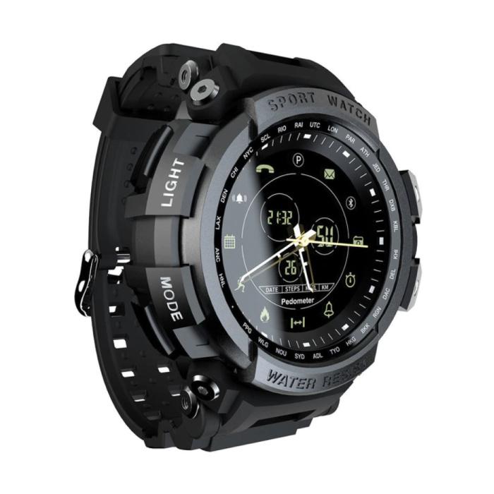 Z2/MK28  Waterdichte Sport Smartwatch Fitness Activity Tracker Smartphone Horloge iOS Android iPhone Samsung Huawei Zwart
