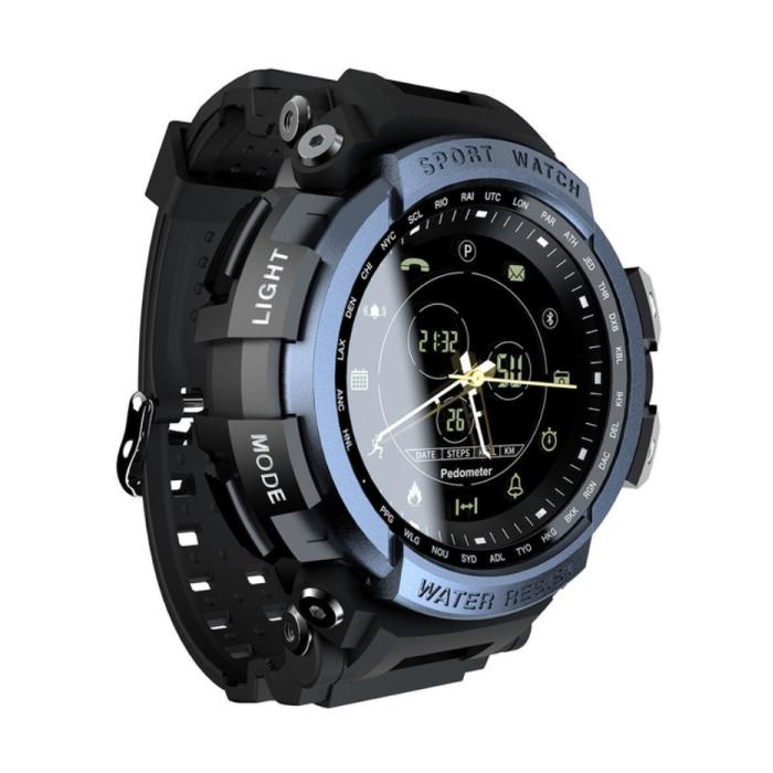 Z2 / MK28 Wasserdichte Sport Smartwatch Fitness Activity Tracker Smartphone Uhr iOS Android iPhone Samsung Huawei Blue