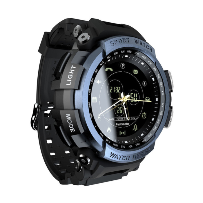 Z2/MK28  Waterdichte Sport Smartwatch Fitness Activity Tracker Smartphone Horloge iOS Android iPhone Samsung Huawei Blauw