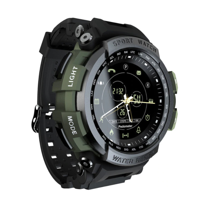 Z2 Waterproof Sport Smartwatch Fitness Activity Tracker Smartphone Watch iOS Android iPhone Samsung Huawei Green