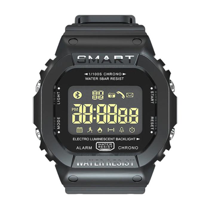 MK22 Wasserdichte Sport Smartwatch Fitness Activity Tracker Smartphone Uhr iOS Android iPhone Samsung Huawei Schwarz