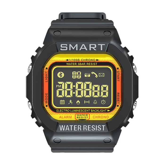 MK22 Waterdichte Sport Smartwatch Fitness Activity Tracker Smartphone Horloge iOS Android iPhone Samsung Huawei Geel