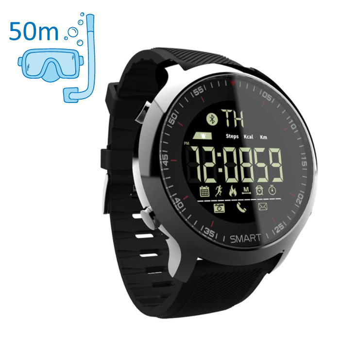 Waterproof Sport Smartwatch Fitness Activity Tracker Smartphone Watch iOS Android iPhone Samsung Huawei Black