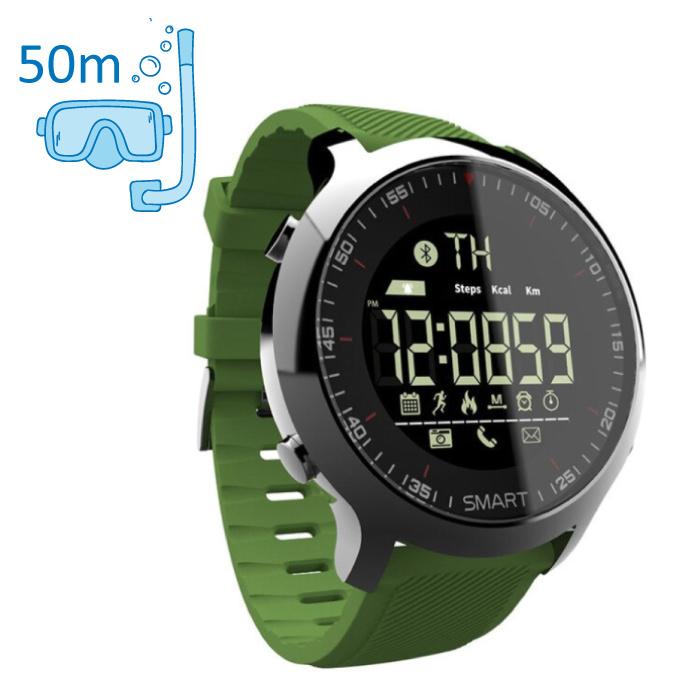 Waterdichte Sport Smartwatch Fitness Activity Tracker Smartphone Horloge iOS Android iPhone Samsung Huawei Groen