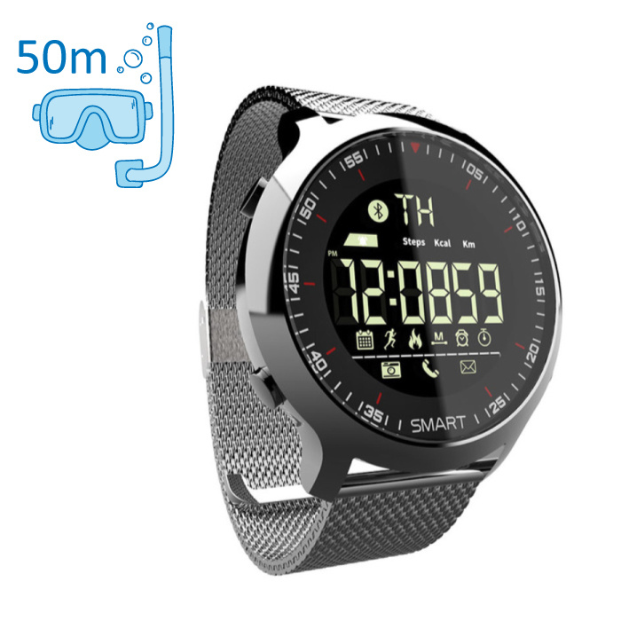 Waterproof Sport Smartwatch Fitness Activity Tracker Smartphone Watch iOS Android iPhone Samsung Huawei Silver