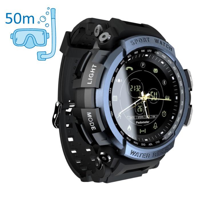 Z2 Waterdichte Sport Smartwatch Fitness Activity Tracker Smartphone Horloge iOS Android iPhone Samsung Huawei Blauw