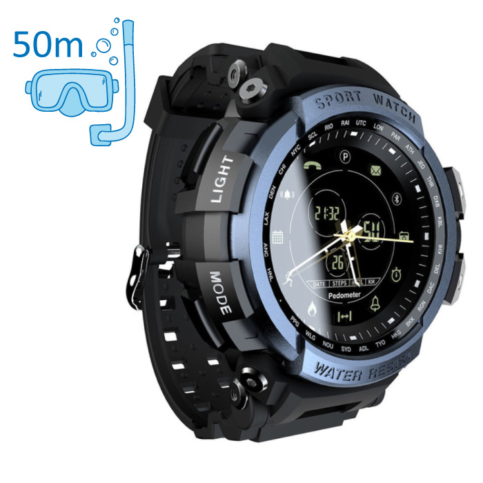 Z2 Waterproof Sport Smartwatch Fitness Activity Tracker Smartphone Watch iOS Android iPhone Samsung Huawei Blue