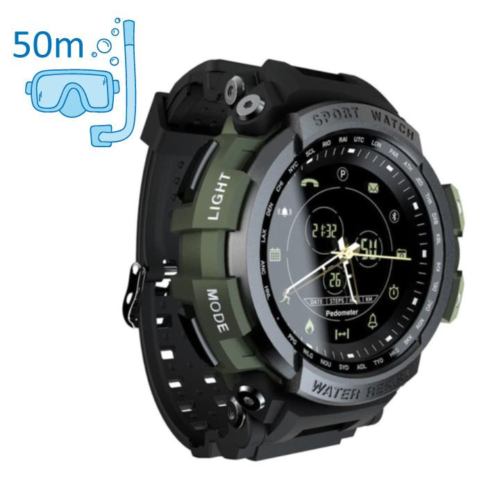 Z2 Waterdichte Sport Smartwatch Fitness Activity Tracker Smartphone Horloge iOS Android iPhone Samsung Huawei Groen