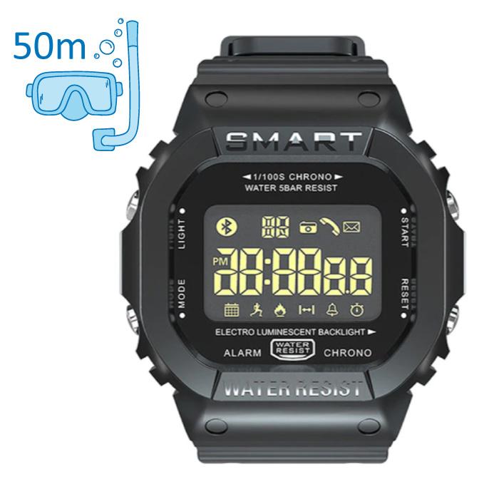 MK22 Waterproof Sport Smartwatch Fitness Activity Tracker Smartphone Watch iOS Android iPhone Samsung Huawei Black