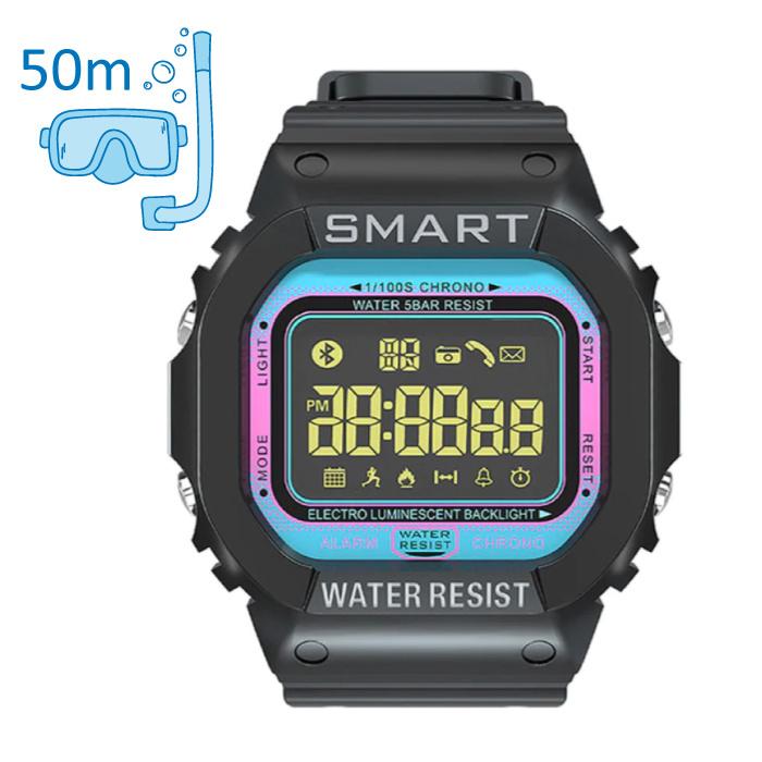 MK22 Waterdichte Sport Smartwatch Fitness Activity Tracker Smartphone Horloge iOS Android iPhone Samsung Huawei Blauw