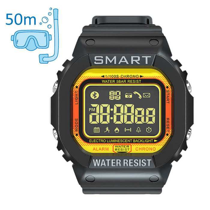 MK22 Waterproof Sport Smartwatch Fitness Activity Tracker Smartphone Watch iOS Android iPhone Samsung Huawei Yellow