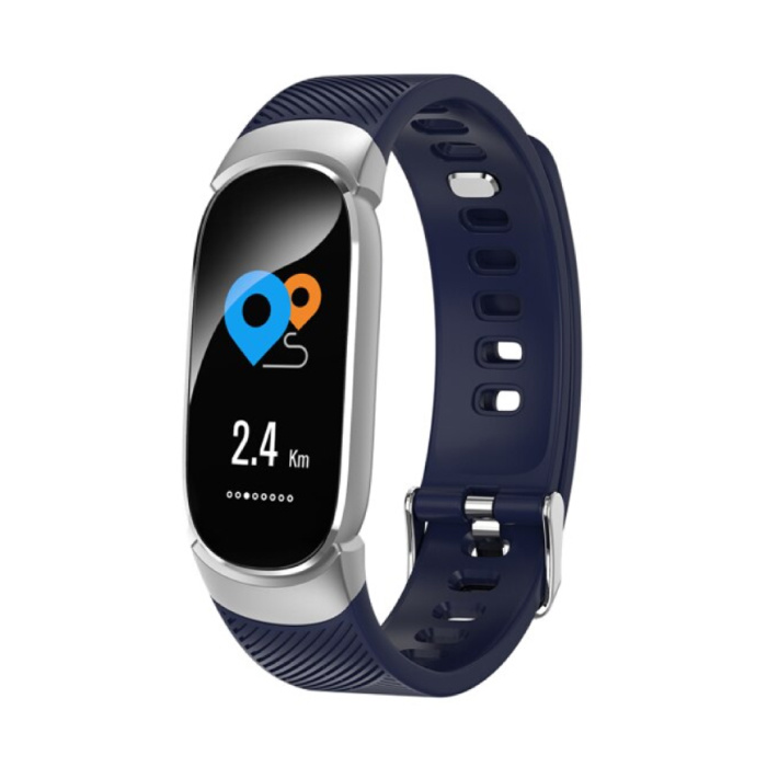 Fashion Sports Smartwatch Fitness Sport Activity Tracker Smartphone Horloge iOS Android iPhone Samsung Huawei Blauw