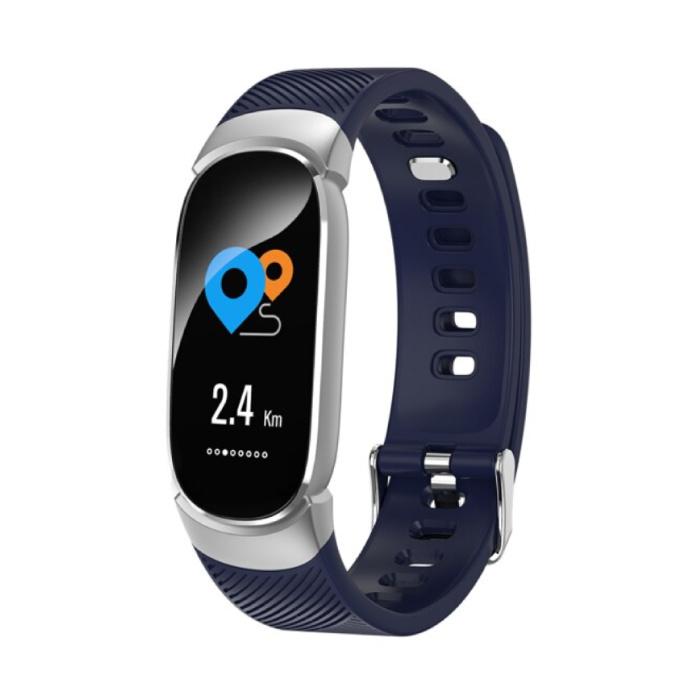Mode Sport Smartwatch Fitness Sport Activité Tracker Montre Smartphone iOS Android iPhone Samsung Huawei Bleu
