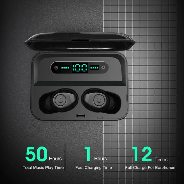 F3 Earbuds TWS Draadloze Smart Touch Control Oortjes Bluetooth 5.0 Air Wireless Pods Earphones Earbuds 3000mAh Powerbank Zwart