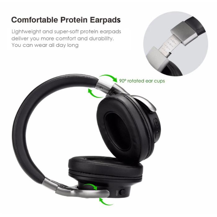 AUSDOM ANC8 Draadloze Koptelefoon Bluetooth Wireless Headphones HiFi