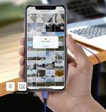 Baseus Lightning USB Oplaadkabel Datakabel 3M Gevlochten Nylon Oplader iPhone/iPad/iPod Zwart